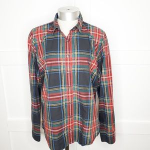 J. Crew Tartan Scottish Plaid Button Shirt Medium